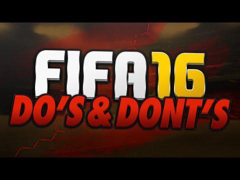 FIFA 16 DO's En DONT's