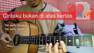 Download Cintaku bukan diatas kertas bukan cinta biasa | Fingerstyle Gitar