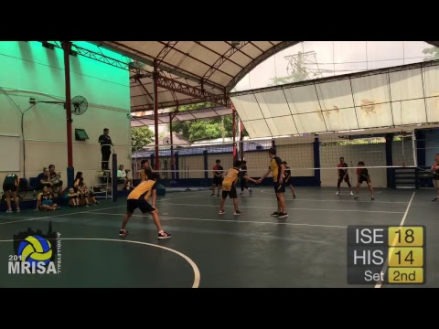 MRISA Junior Volleyball 2017 ISE vs. HIS - G15 - 12:40am (Boys) Outdoor Court
