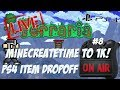 MineCreateTime to 1k! - Terraria Playstation Item Dropoff Giveaways Livestream #8