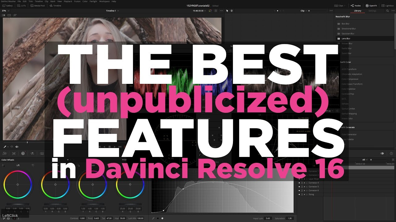 Understanding the new features in DaVinci Resolve 16 | Jonny