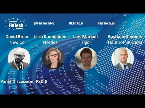 PSD2 panel discussion at European FinTech Awards & Conference 2016 Amsterdam