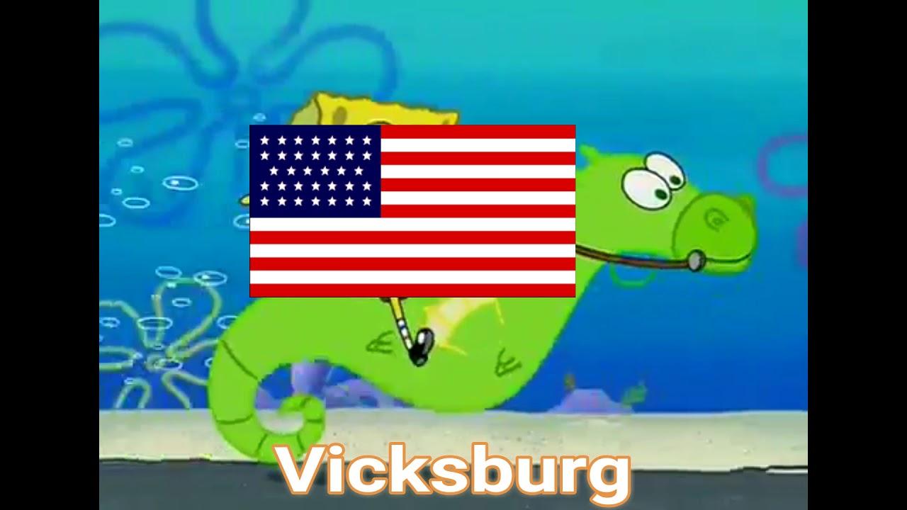 The civil war portrayed by spongebob