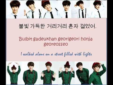 EXO (엑소) - First Snow (첫 눈) Korean Version [w/ Hangul + Romanization + English Trans Lyrics]