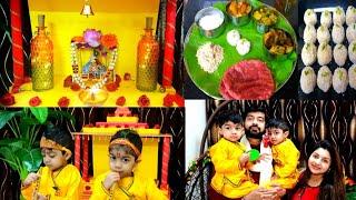 Janmastami Celebration In Dubai || Our Twins Bal Gopal Celebrated Janmastami || Vrat Ki Thali