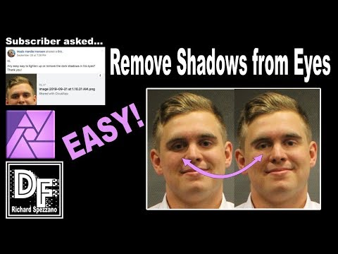 Remove Shadows Affinity Photo beginner tutorial thumbnail