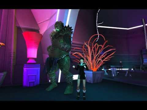 Star Trek Online - Q's Dancing Girls During STO 2nd Anniversary Event