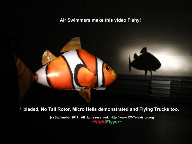 Air Swimmers unboxed with Assy Pics & 1 Bladed NOTAR micro helis make this video fishy.