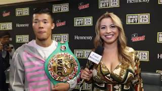 SPANISH SPEAKING JAPANESE TOMOKI KAMEDA DARES REY VARGAS TO GO TOE TO TOE MEXICAN STYLE