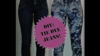 DIY - Tie Dye Jeans