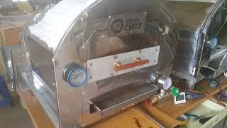 고기초벌용 LPG가스 미니화덕 더쉐프로 화덕삼겹살 굽기