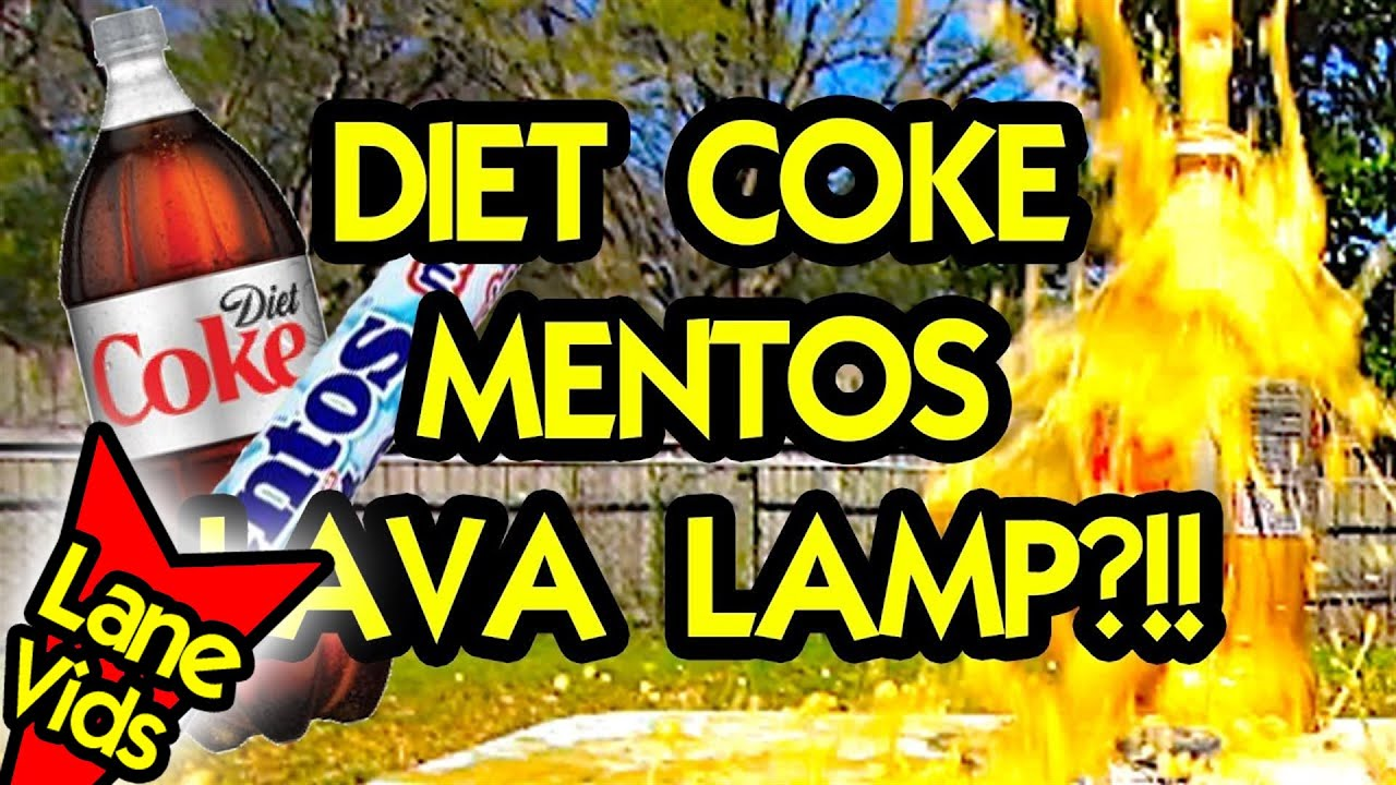 DIET COKE AND MENTOS LAVA LAMP? (Science Experiment) - YouTube
