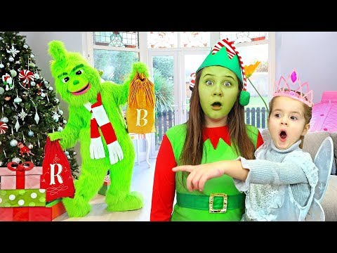 Ruby, Bonnie and Grinch pretend play  funny stories for children