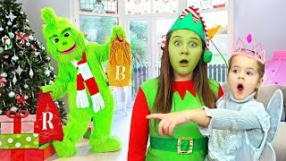 Ruby, Bonnie and Grinch pretend play - funny stories for children