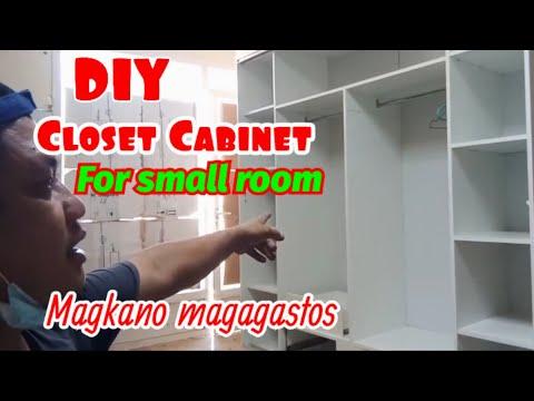 DIY Cabinet design for small room. Closet cabinet, dressing cabinet paano gumawa.