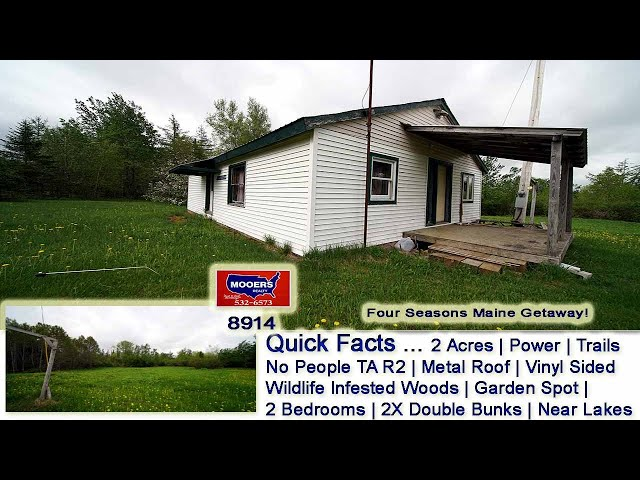 Camp For Sale In Maine   Real Estate Video TA R2 Property MOOERS REALTY 8914