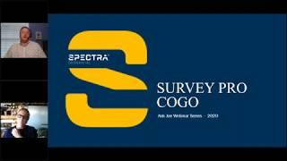 Spectra Geospatial Webinar, Survey Pro COGO
