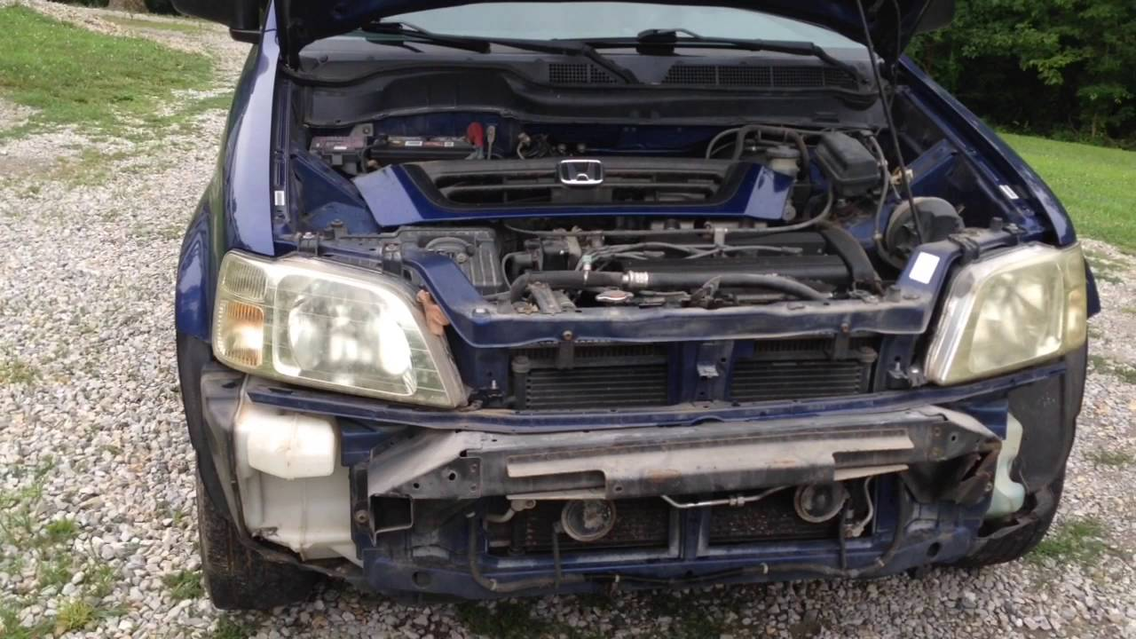 1997-2001 Honda CR-V Front Bumper Replacement Using A $32 Certi-fit Bumper - YouTube