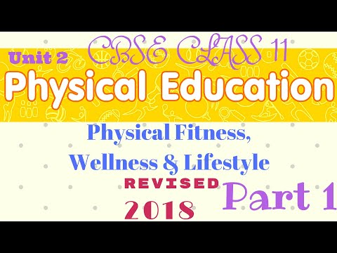 Physical fitness wellness and lifestyle class 11 in hindi   Part 1