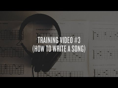 Training Video #3 (How To Write a Hit Song & Attract Record Labels)