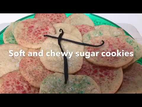 Soft And Chewy Vanilla Bean Cookies