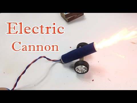 How To Make Electric Cannon At Home | Powerful CANNON | Lee Bros #8
