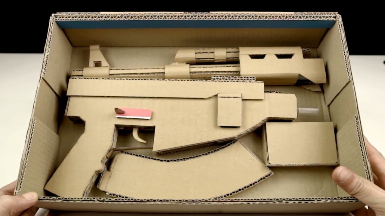 How to make Cardboard AK47 Can be Removal & Installation Easily That Sh00ts