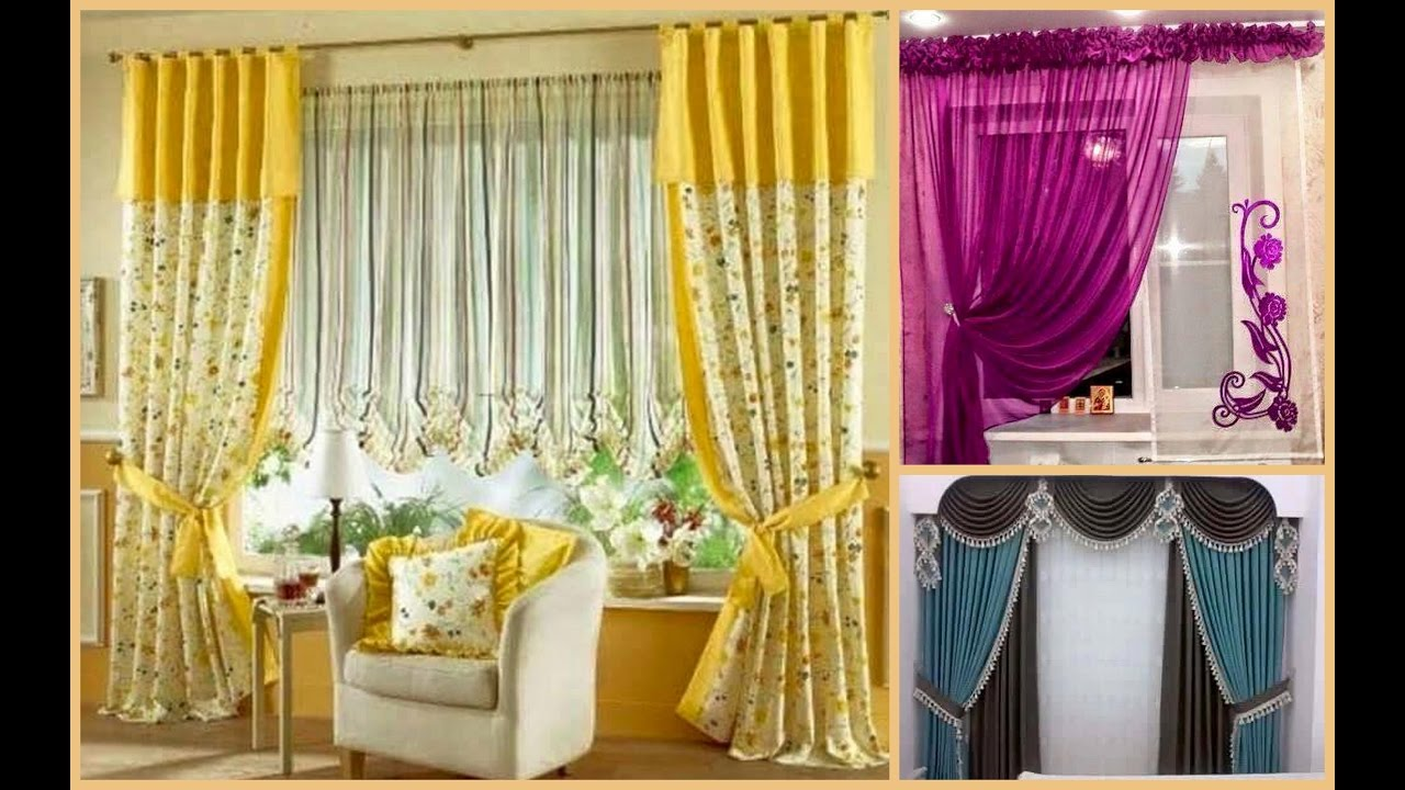 45 best ever window curtain scarf design ideas pictures and style plan n design youtube - Latest interior curtain design ...