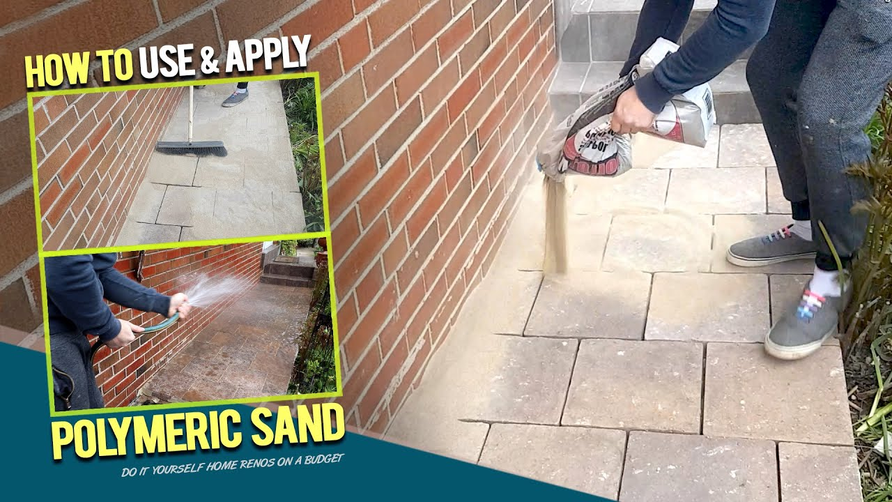 how to use polymeric sand for pavers interlocking joints easy install procedure