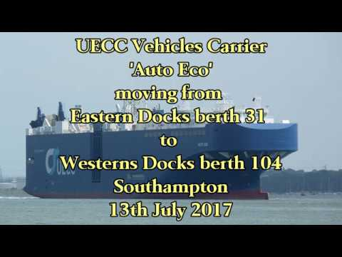 UECC Vehicles Carrier 'Auto Eco' moves between berths on 13/7/17