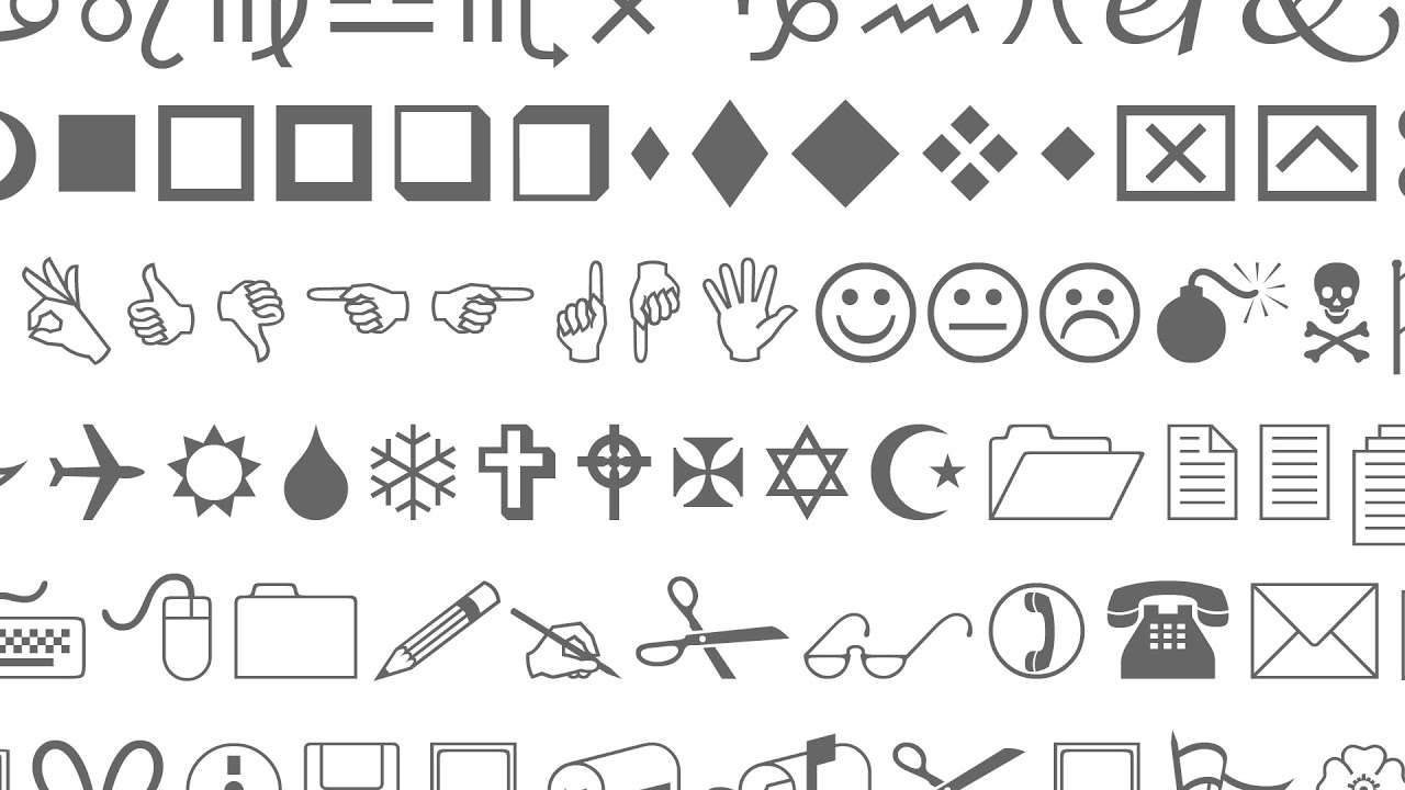 The Strange History Of The Wingdings Font Youtube
