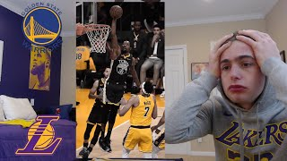 lakers fan reacts to lakers warriors.. this was a rough watch. i raged...
