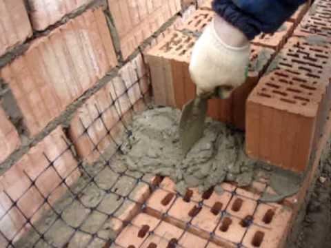 Армирование кирпичной кладки сеткой С4
