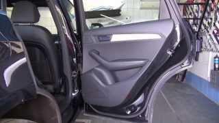 Разборка и снятие двери Audi Q5. (Removing doors, шумоизоляция)