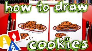 How To Draw A Plate Of Cookies For Santa