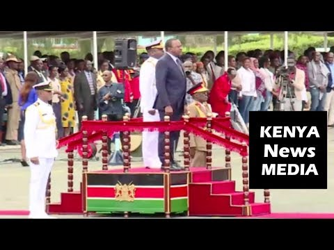 President Uhuru Kenyatta ARRIVAL for CADETS COMMISSIONING PARADE at Military Academy in LANET!!!