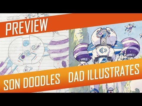 DRAWING with my kids - CLOUD GUARDIAN [PREVIEW] No.45