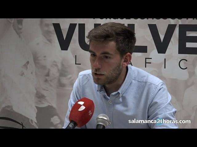 Rueda de prensa tras el CF Salmantino UDS - SD Compostela de playoff de ascenso a 2ªB