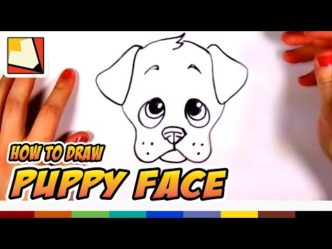 How To Draw A Cute Puppy Face Step By Step - Art For Kids | CC