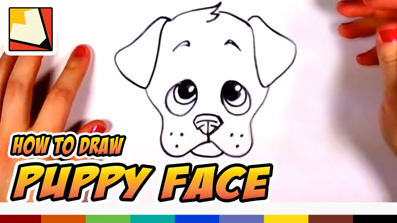 How To Draw A Cute Puppy Face Step By Step Art For Kids Cc Youtube