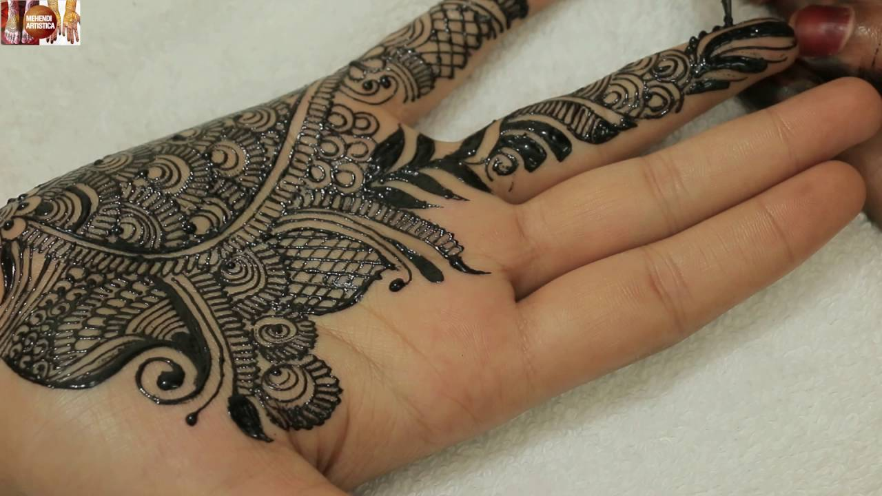 Simple Mehndi Tattoo Hands : Easy simple mehndi designs for hands haathphool mehendi tattoo