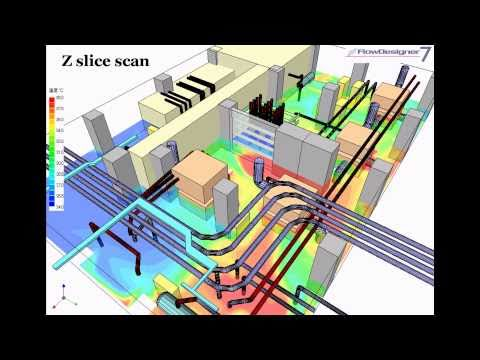 Air Flow Simulation by FlowDesigner -Utility Space