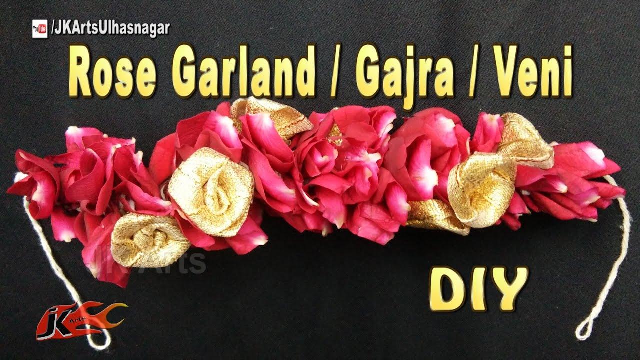 Diy flower garland gajra veni for indian wedding how to make diy flower garland gajra veni for indian wedding how to make jk arts 1087 youtube solutioingenieria Images