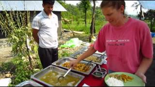Global Village Team Nepal - Building with Bamboo & Team Interviews.flv