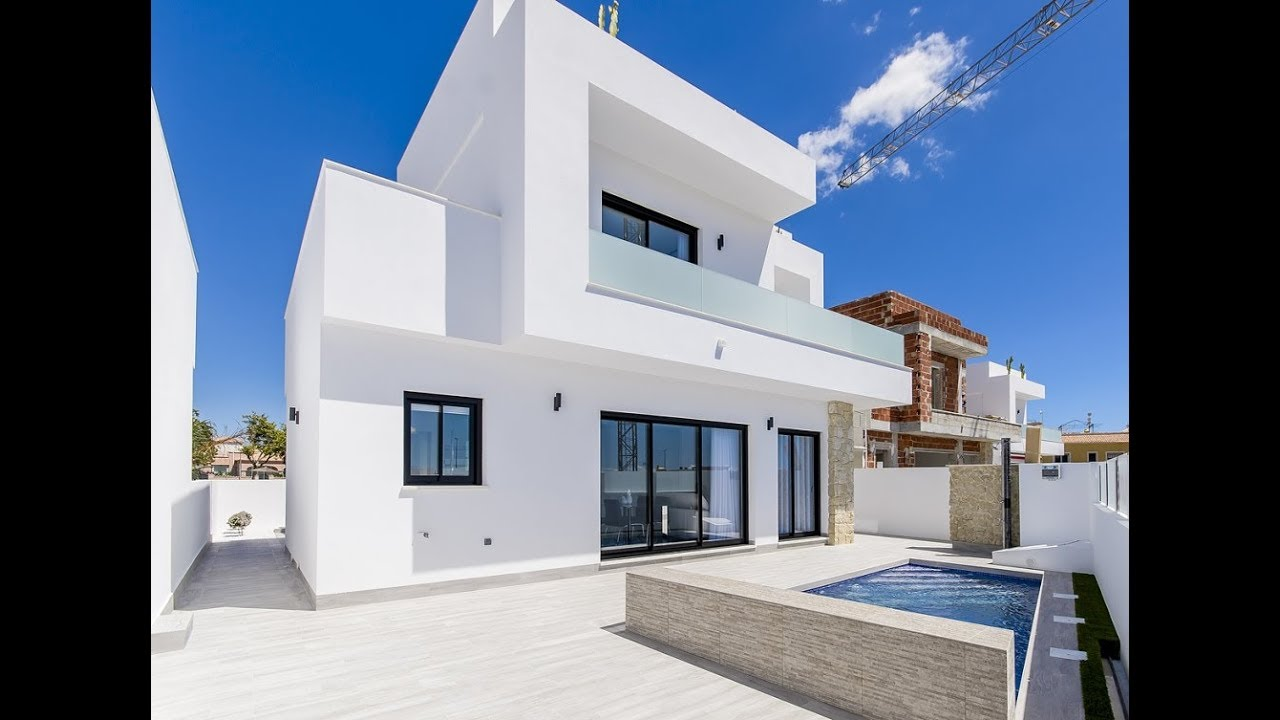 A Vendre Maison Moderne Avec Piscine Privee De 3 Chambres 2 Salles De Bains A Los Montesinos Au Su Youtube