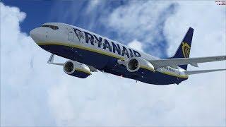 Ryanair Boeing 737-800 | Glasgow Prestwick EGPK to Faro LPFR | FSX & Vatsim