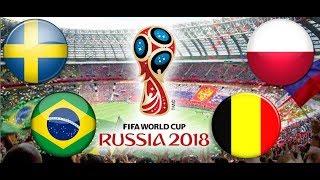 TURNIEJ PANINI FIFA WORLD CUP RUSSIA 2018 SZWECJA - BRAZYLIA , POLSKA - BELGIA