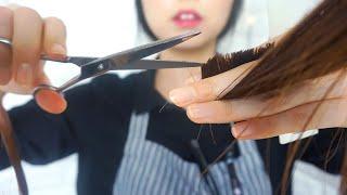 ASMR Relaxing Hair Salon ✂ Haircut, dyeing, Shampoo, Curler