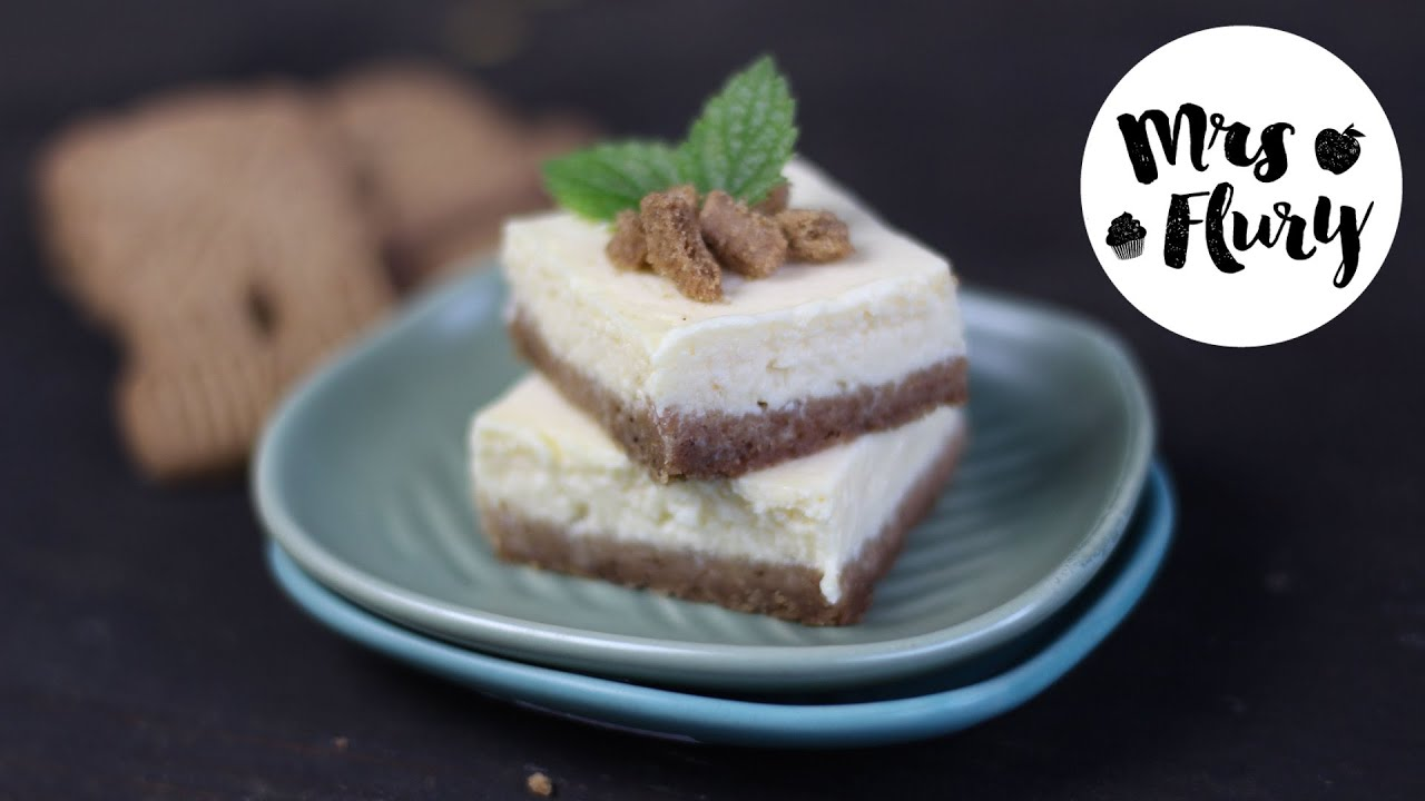 Weihnachtliche Spekulatius Cheesecake Schnitten Rezept Backen