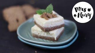 Weihnachtliche Spekulatius Cheesecake Schnitten | Rezept | Backen mit Mrs Flury